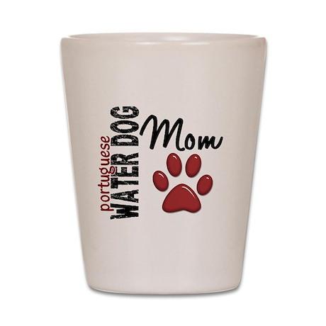 Portuguese Water Dog Mom 2 Shot Glass