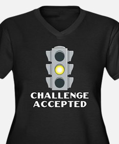 Challenge Accepted Women's Plus Size V-Neck Dark T
