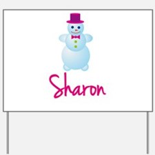 Sharon the snow woman Yard Sign
