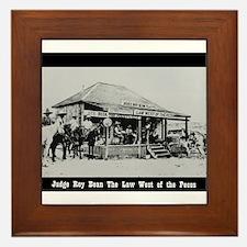 Judge Roy Bean Framed Tile