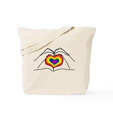 Hand Heart Pride Tote Bag