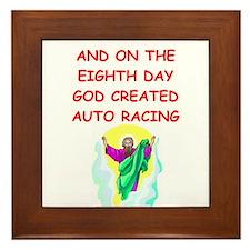 auto racing Framed Tile