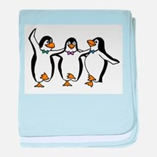 Penguins Dancing baby blanket