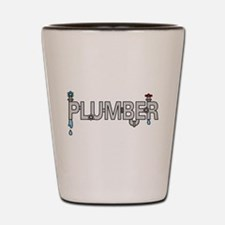 Plumber Pipes Shot Glass
