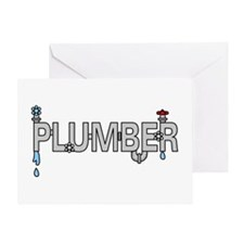 Plumber Pipes Greeting Card