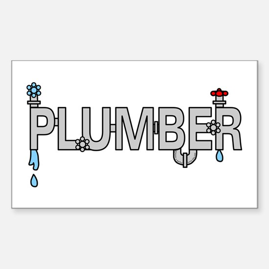Plumber Pipes Sticker (Rectangle)