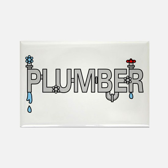 Plumber Pipes Rectangle Magnet
