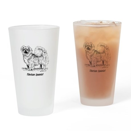 Tibetan Spaniel Drinking Glass