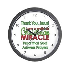 Christmas Miracle Wall Clock