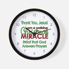Christmas Miracle Wall Clock