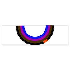 BJJ Loop - Colors of Progress Bumper Sticker
