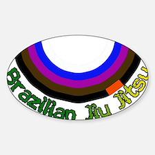 BJJ Loop - Colors of Progress Sticker (Oval)