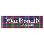 Tartan - MacDonald of Boisdale Sticker (Bumper)
