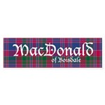 Tartan - MacDonald of Boisdale Sticker (Bumper 10