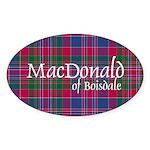 Tartan - MacDonald of Boisdale Sticker (Oval 10 pk