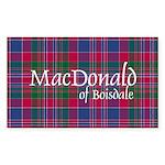 Tartan - MacDonald of Boisdale Sticker (Rectangle)