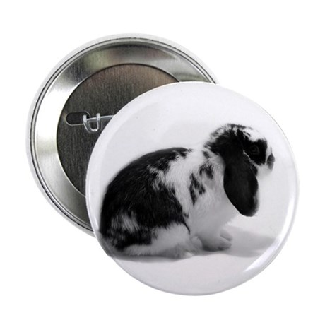 "Holland Lop Rabbit - Broken B 2.25"" Button"