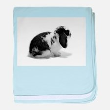 Holland Lop Rabbit - Broken B baby blanket