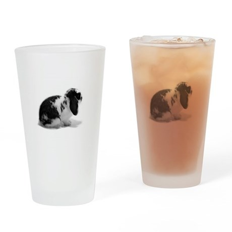 Holland Lop Rabbit - Broken B Drinking Glass