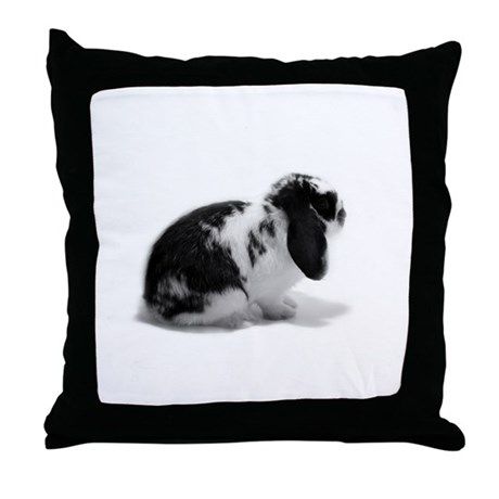 Holland Lop Rabbit - Broken B Throw Pillow