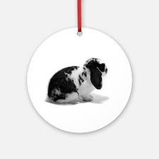 Holland Lop Rabbit - Broken B Ornament (Round)