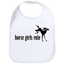 horse girls rule Bib