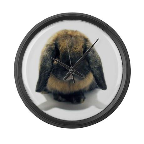 Holland Lop Rabbit Tort Large Wall Clock