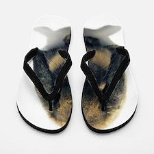 Holland Lop Rabbit Tort Flip Flops