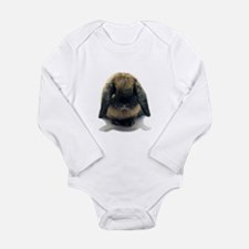 Holland Lop Rabbit Tort Long Sleeve Infant Bodysui