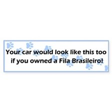 Your Car Fila Brasileiro Bumper Bumper Sticker