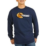 Climbing Fortune Cookie Long Sleeve Dark T-Shirt
