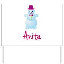 Anita the snow woman Yard Sign