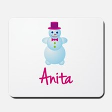 Anita the snow woman Mousepad
