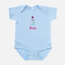 Anita the snow woman Infant Bodysuit