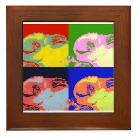 Pop Art Sleeping Bunny Framed Tile