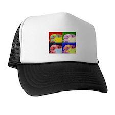 Pop Art Sleeping Bunny Trucker Hat