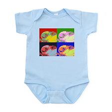 Pop Art Sleeping Bunny Infant Bodysuit