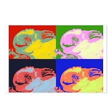 Pop Art Sleeping Bunny Postcards (Package of 8)