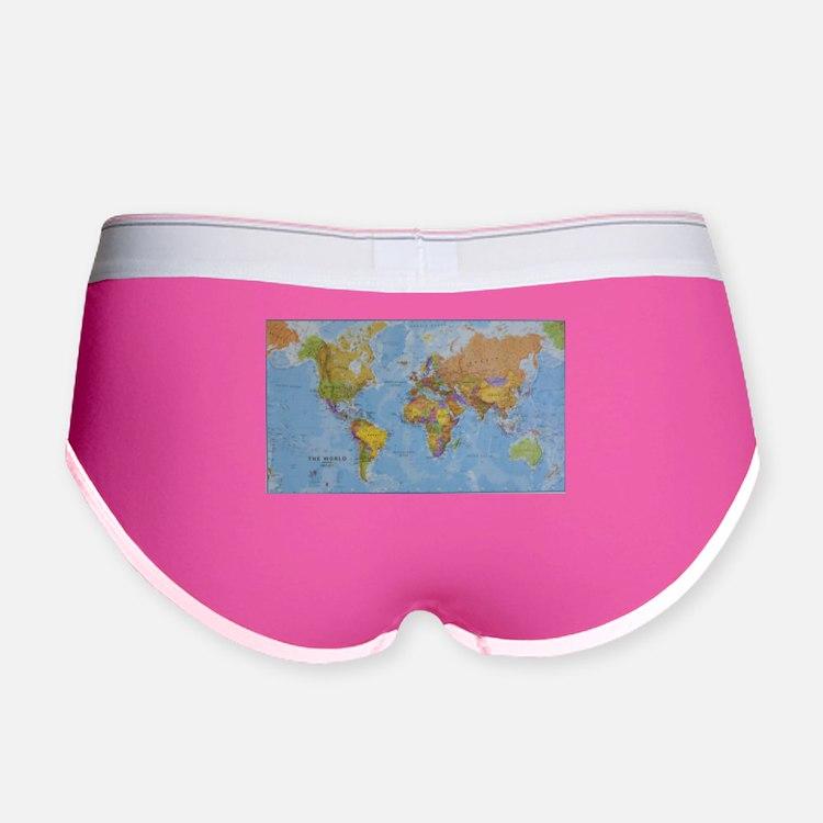 World Map Women's Boy Brief