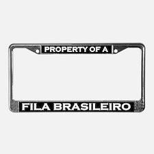 Property of Fila Brasileiro License Plate Frame