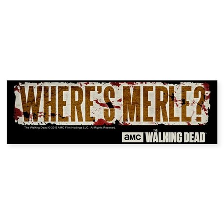 The Walking Dead Merle Sticker (Bumper)