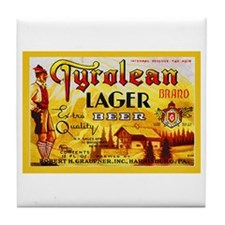 Pennsylvania Beer Label 10 Tile Coaster