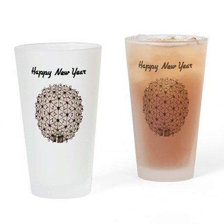 Happy New Year Ball Drinking Glass