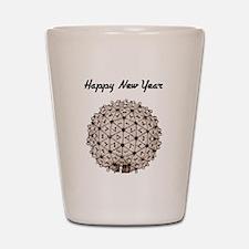 Happy New Year Ball Shot Glass