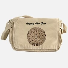 Happy New Year Ball Messenger Bag