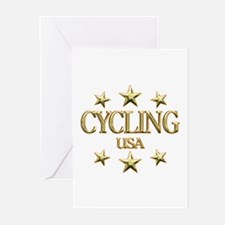 USA Cycling Greeting Cards (Pk of 10)
