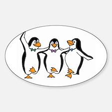 Penguins Dancing Sticker (Oval)