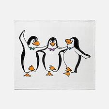 Penguins Dancing Throw Blanket