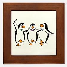 Penguins Dancing Framed Tile