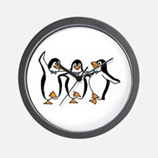 Penguins Dancing Wall Clock